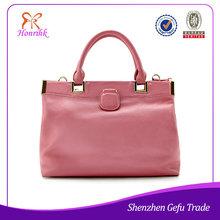 wholesale price fashion elegance ladies bags pink leather handbags 2014