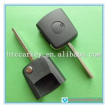 High quality car key case or cover for Seat Flip Key Head Without Chip Square Head (with logo) Silca: HU66 car key shell