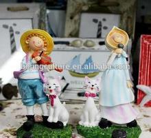 Fashion European resin handicraft white angel home decoration fairy craft figurine statuette gift home ornament