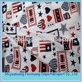 Großhandel 100% jungfrau baumwolle gedruckt amerikanische flagge stoff