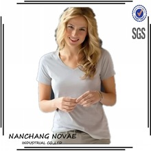 Factory price organic cotton women t shirts wholesale