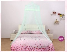 Green Manufacturers selling lace open encryption circle ceiling court mosquito net