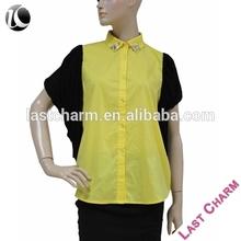 LAST CHARM latest casual elastic waist blouse