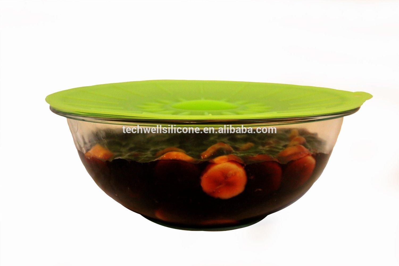 FDA&LFGB factory wholesaler dia 31.5cm food grade silicone lids for bowl