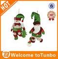 2014 mejor venta de tela decorativa de navidad muñeca colgando del muñeco de nieve para la decoración de navidad