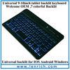 LBK411 English Amazon aluminum ultra slim mini wireless bluetooth keyboard for ipad air Keyboard with backlit