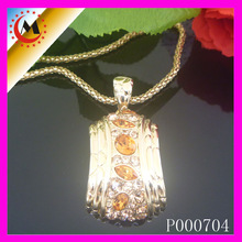 BIG YELLOW CRYSTAL PENDANT ,MEANINGFUL PENDANT NECKLACES