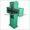 led pharmacy cross display 3D led pharmacy cross 80cm*80cm outdoor cross signs with ce