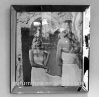 Beveled mirror photo frame for wedding