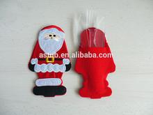 Best seller Santa Suit Christmas tableware Holder Pockets/Popular professional Christmas dinnerware pocket