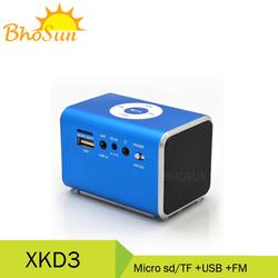 portable radio with usb sd