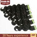 venda quente da onda do corpo cabelo extensões de cabelo indiano por atacado no brasil amostra grátis