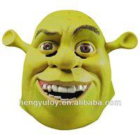 Huizhou Reliable Realistic Rubber Latex Shrek Mask / Cartoon Themed Party Dress