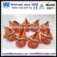 Rubber bath clown fish orange color