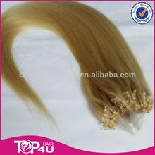 Hot Sale 1g/strand, 100g/pcs Micro ring loop hair extensions, micro loop ring russian remy hair extension