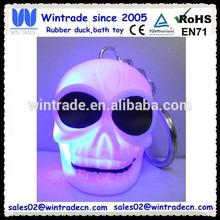 Plastic halloween flashing skull keychain