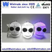 New Halloween skull head flashing keychain