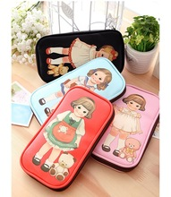 New Style Retro Cute Doll Large Capacity Leather Pencil Bag
