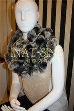 2014 new style women rex rabbit chinchilla fur scarves