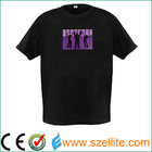 High quality el flashing t shirt,el shirt,bright flashing el shirt customization acceptable