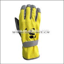 bear printing PVC dots palm gardening gloves