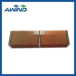 u aluminium plat copper fin heatsink compound