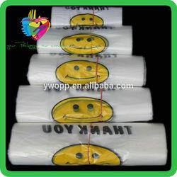 Yiwu China cheap plastic thank you t-shirt bag on roll