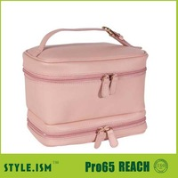 fashion colorful leather cosmetic bag makeup case