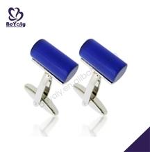 Blue cylinder design brass handmade aston martin cufflinks