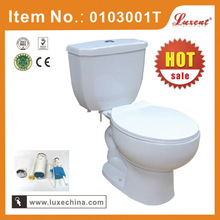 Chaozhou factory double flushing new 2 piece toilet with slowdown seat cover toilet