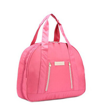 wonderful pink polyester ladies handbags tote bag for young mom