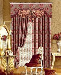 2014 latest design Fire retardant large print curtains