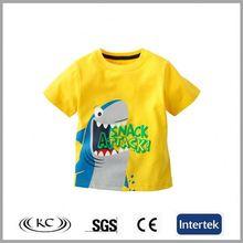 low price popular china animal yellow fashion printed children t-shirt