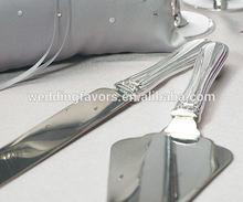 Crystal & Silver Plated Wedding Cake Serving Set