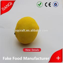 wholesale cheap Artificial Fake lemon fruit Plastic lemon lemon fruit