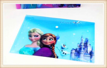 cute cartoon office folder/ file folder with lock/ a4 plastic folder
