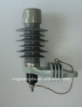 Manufacturer and supplier of high voltage polymer metal-oxide 11kv lightning surge arrester made in China electrical equipment