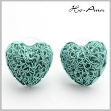 2014 beautiful heart shaped women earrings for party