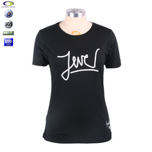2014 stylish girls t-shirt with chest print words