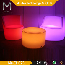 led merry sofa set-top waterproof multi-color remote control PE LED bar chair