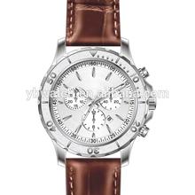 YB 8407 european swiss movt leather watch men