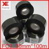 FC3 Fineray brand black 30mm*100m Hot foil marking tape / hot stamping ribbon /Hot stamping foil jumbo roll