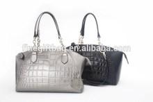 2014 New hit color high end girls handbag custom hardware Woman Designer PU Leather Bag