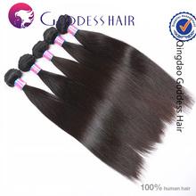 Factory wholesale 5A Brazilian virgin remy human hair 1b# straight dev hair exports