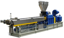 SHJ-65 PE/PP powder/granule + caco3 parallel co-rotating masterbatch extruder Twin Screw Plastic Extruder for PVC PP PE