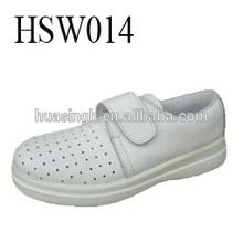 anti-slip white sanitary air holes soft microfiber upper cook/ chef/ kitchen shoes