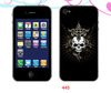 dustproof custom skull head skin for iphone 4/5
