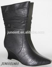 2014 new arrival fahsion ladies wedge heel boots botas