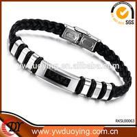Wide Mens Weave Chain Bracelets & Bangles Men 22CM*10MM Jewlery Leather Bracelets For Men