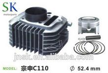cylinder kit(CG)MODEL zongshen C110 DIA52.4mm